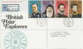 1972 British Polar Explorers, Registered Post Office FDC, Buckingham Palace cds