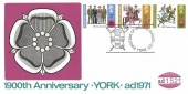 1971 General Anniversaries, D.S. Anderson 1900th Anniversary of York FDC, First Day of York H/S