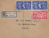 1953 Coronation, Registered Manila Royal Stationery FDC, 2½d & 2x 4d for Registration & Postage, Buckingham Palace SW1 cds