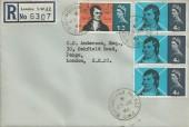1966 Robert Burns, Registered Plain FDC, Buckingham Palace SW1 cds