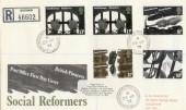 1976 Social Reformers Pelton Chester-le-street Co.Durham cds FDC