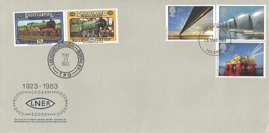 1983 Engineering, London North Eastern Railway (LNER) First Day Cover Complete with Full Set of Stamps