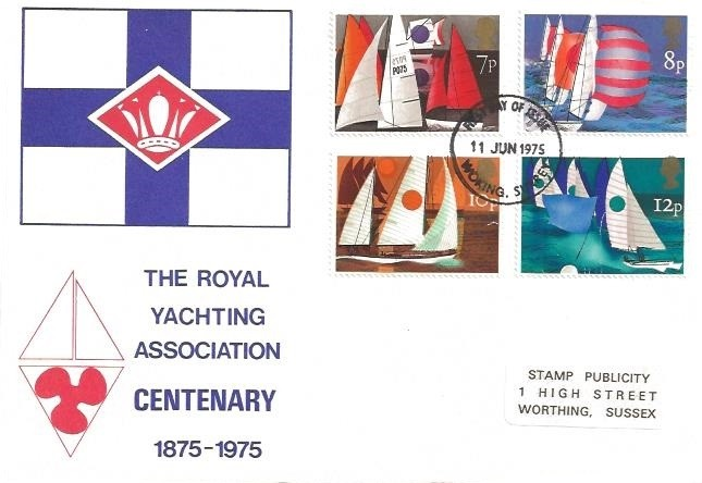 1975 Sailing Royal Yachting Association SCARCE First Day Cover, Woking Surrey FDI