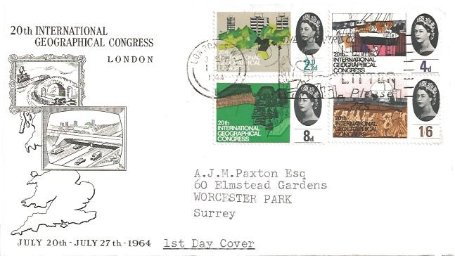 1964 Geographical Congress, Illustrated First Day Cover, The Country Code - Leave no Litter London W1 Slogan