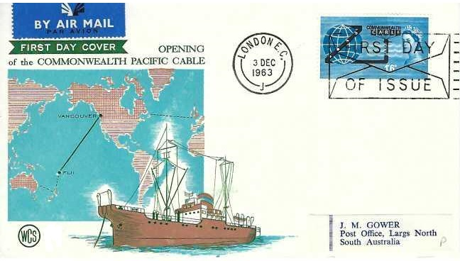 1963 Commonwealth Cable (Compac), WCS First Day Cover, First Day of Issue London EC Slogan