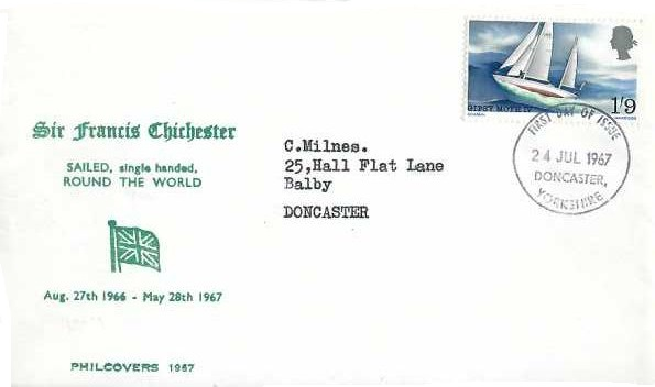 1967 Sir Francis Chichester, Philcovers First Day Cover, Doncaster Yorkshire FDI