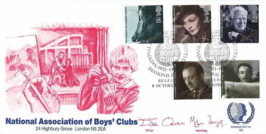 1985 British Film Year, Official National Association of Boys' Club (NABC) FDC, National Association of Boys' Clubs Diamond Jubilee Belfast H/S