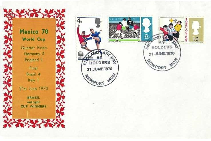 1970 Last Day England World Cup Holders Cover, England Last Day as Holders Newport Mon. H/S