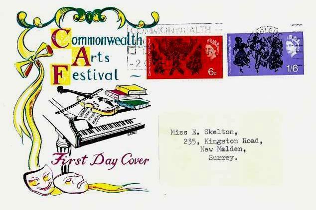 1965 Commonwealth Art Festival, Connoisseur FDC, Commonwealth Art Festival 16 September -2 October 1965 Wimbledon Slogan